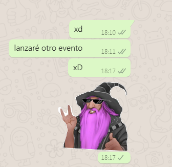 Evento de Sticker de whatsapp